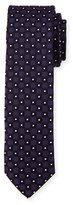 HUGO BOSS Neat Box-Pattern Silk Tie, Purple