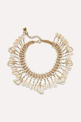 Rosantica Gold-tone, Bead And Shell Necklace - White