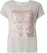 Dorothy Perkins Womens **Only Grey Slogan Sequin T-Shirt- Grey