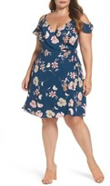 City Chic Plus Size Women's Lulu Floral Wrap Dress