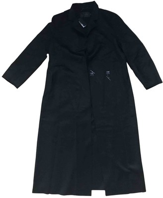 Calvin Klein Collection Black Cashmere Coat for Women