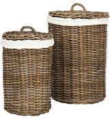 Safavieh Millen Round Laundry Baskets (Set of 2)