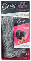 The Sassy Collection Jane Salt & Pepper Gray 9 Inch Drawstring Ponytail