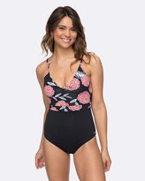 Roxy Womens Softly Love Mexican Roses One Piece Swimsuit
