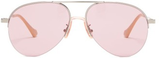 Gucci Aviator Metal Sunglasses - Pink Silver