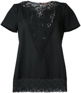 No.21 lace detail T-shirt - women - Cotton/Polyamide - 40