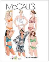 Mccall's M5400 Misses' Two- Piece Bathing Suit and Cover-Up