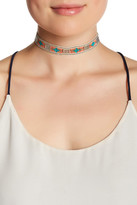 Stephan & Co Multi-Color Beaded Cotton Cord Choker