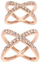 JLO by Jennifer Lopez Crisscross Ring Set