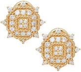 Judith Ripka 14K Gold 1/2 cttw Diamond Earrings