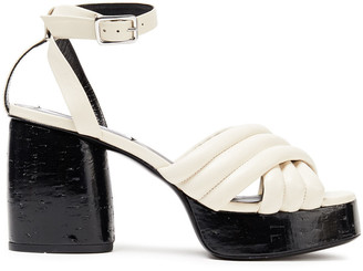 McQ Rise Quilted Leather Platform Sandals