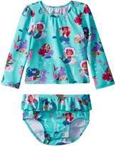 Hatley Underwater Kingdom Mini Rashguard Set Girl's Swimwear Sets