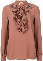 No.21 embellished ruffle blouse