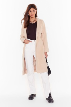 Nasty Gal Womens Cover Me Tailored Longline Coat - Beige - S