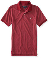 Aeropostale Mens Solid Heritage Jersey Polo Shirt
