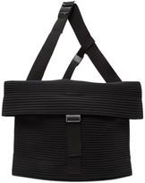 Issey Miyake Homme Plisse Black Pleats Flat 2.0 Messenger Bag