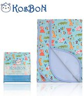 "Kosbon Extra Large (40"" x 30'') Infant Baby Deluxe Flannel And Bamboo Fiber Cotton Change Pad,Waterproof Cartoon Pattern Diaper Changing Pad For Home And Travel"