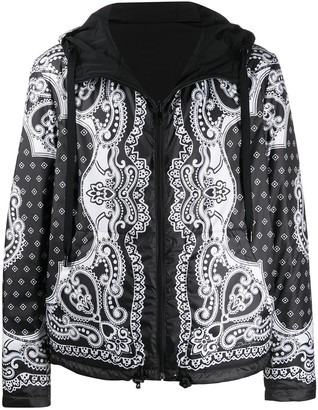 Dolce & Gabbana Bandana-print zipped jacket