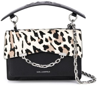 Karl Lagerfeld Paris K Seven leopard-print shoulder bag