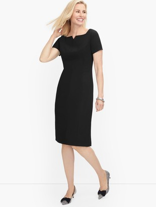 Talbots Luxe Wool Sheath Dress - Black