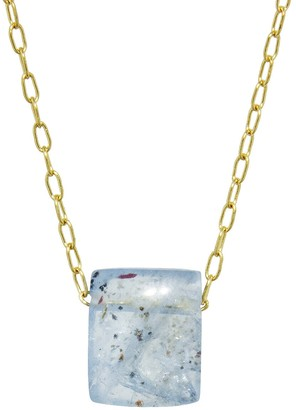 Ten Thousand Things Aquamarine Chicklet Necklace - Yellow Gold