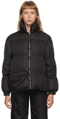 Prada Black Down Recycled Nylon Pouch Jacket