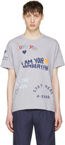 Kenzo Grey Valentines Text T-shirt