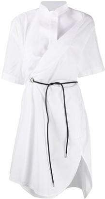 Sacai asymmetric shirt dress