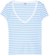 Frame Le Button striped stretch-cotton jersey T-shirt