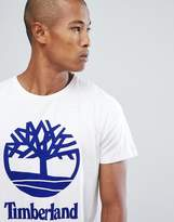Timberland Stacked Logo T-shirt In White