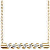 Sirena Energy Diamond Twist Bar Necklace (1/4 ct. t.w.) in 14k Gold or White Gold