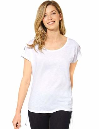 Cecil Women's 314970 Solid Cold Shoulder Shape T-Shirt