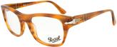 Persol Brown Tortoiseshell Rectangular Eyeglasses - Women