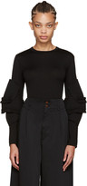Comme des Garcons Black Ruffled Sleeve Pullover