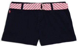 Ralph Lauren Kids Stripe Belt Chino Shorts (2-4 Years)