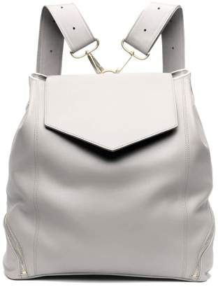 Holly & Tanager The Professional Leather Backpack Purse In Cream
