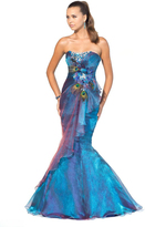 Blush Lingerie Gorgeous Strapless Embellished Mermaid Gown 9318