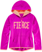 Xersion Graphic Zip-Front Fleece Hoodie - Girls 7-16 and Plus