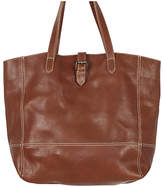 Fat Face Lily Large Leather Buckle Tote Bag, Chestnut