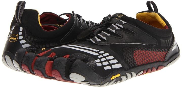 Vibram FiveFingers KMD Sport LS (Black/Burgundy) - Footwear