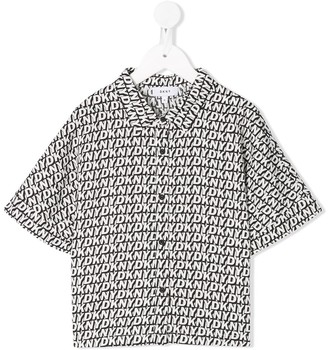 DKNY Logo Print Relaxed-Fit Shirt