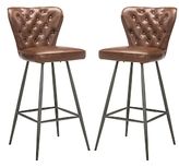 Safavieh Aster Stainless Steel Barstools (Set of 2)
