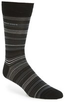 BOSS 'RS Design' Mercerized Cotton Blend Socks
