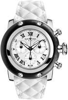 Glam Rock Women's Sobe 46mm Leather Band Steel Case Sapphire Crystal Swiss Quartz Watch GR11135