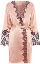 Marjolaine Lace Trim Short Robe