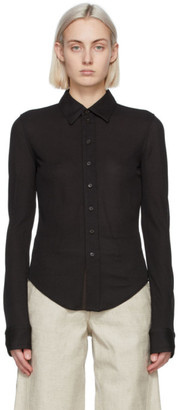 Bottega Veneta Brown Viscose Shirt