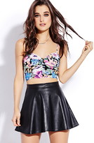 Forever 21 Electric Floral Crop Top