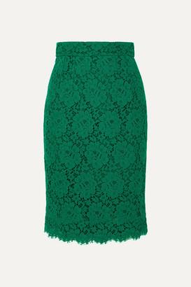 Dolce & Gabbana Guipure Lace Skirt - Green