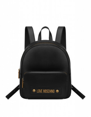 Love Moschino Backpack With Logo Woman Black Size U It - (one Size Us)