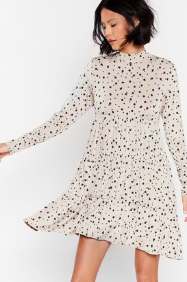 Nasty Gal Womens Tier and Now Spotty Mini Dress - Cream